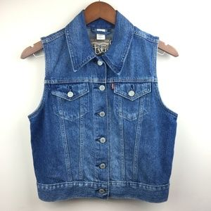 LEVIS Button Up Denim Vest Small